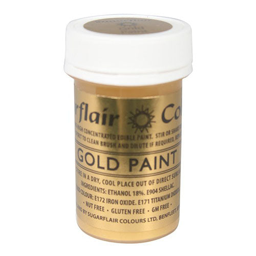 Sugarflair Edible Paint, 20g, Gold