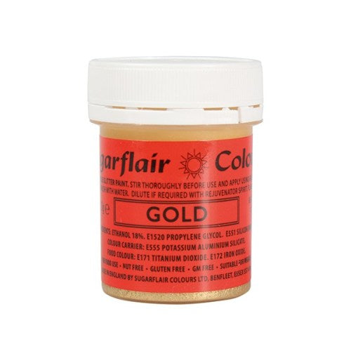 Sugarflair Edible Glitter Paint, 35g, Gold