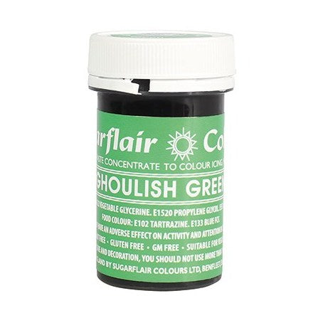 Sugarflair Paste Colour, 25g, Spectral Ghoulish Green