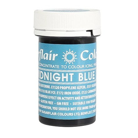 Sugarflair Paste Colour, 25g, Spectral Midnight Blue