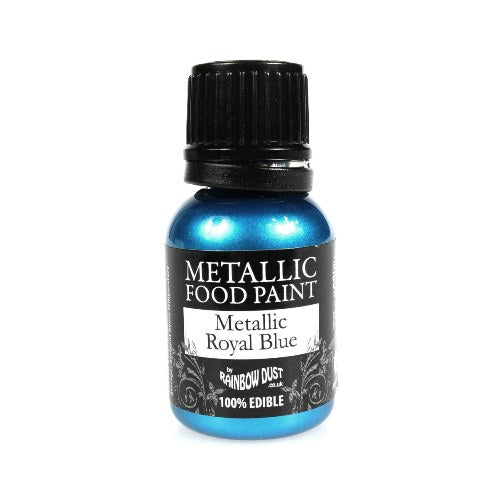 Rainbow Dust Edible Metallic Food Paint, 25ml, Royal Blue