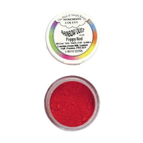 Rainbow Dust, 15g, Poppy Red