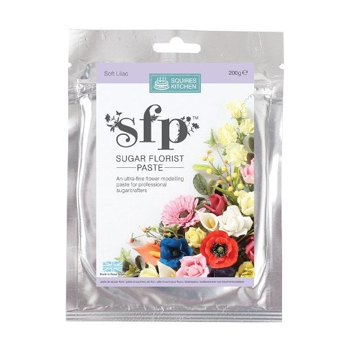 Squires Sugar Florist Paste, 200g, Soft Lilac