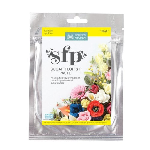 Squires Sugar Florist Paste, 100g, Daffodil/Yellow