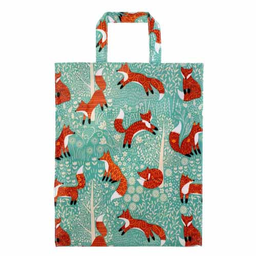 Foraging Fox PVC Shopping Bag