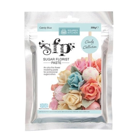 Squires Sugar Florist Paste, 200g, Candy Blue