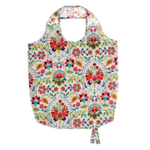 Bountiful Floral Foldable/Roll Up Shopping Bag