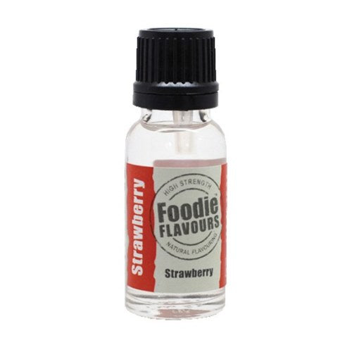 Foodie Flavours Natural Food Flavouring, 15ml, Strawberry