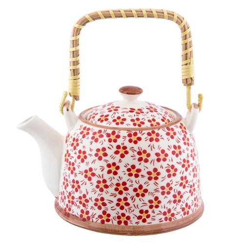 Red Porcelain Teapot (0031)