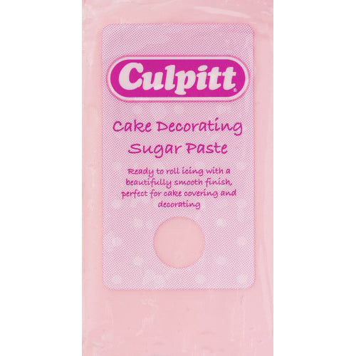 Culpitt Ready To Roll Icing, 1kg, Light Pink