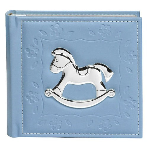 Baby Rocking Horse Photo Album, Blue