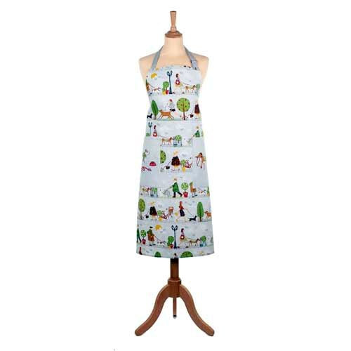 'Walkies' Cotton Apron