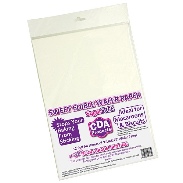 Cake Star Wafer Paper, Pack Of 12, White
