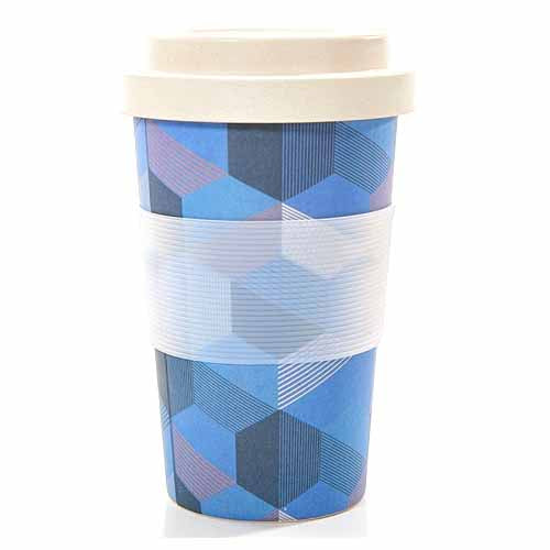 ECO CHIC BAMBOO REUSABLE COFFEE CUP, TRIANGLES