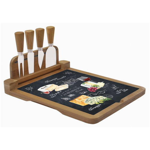 Ardesia Folding Cheese Board With Knife Set