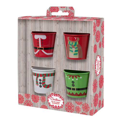 Christmas Egg Cup Buckets, Set Of 4