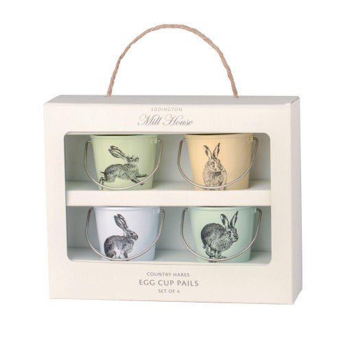 Egg Cup Buckets, Set Of 4, Country Hare