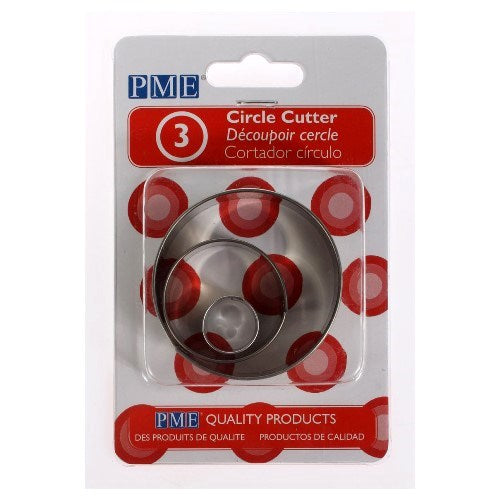PME Circle Cutters, Set Of 3