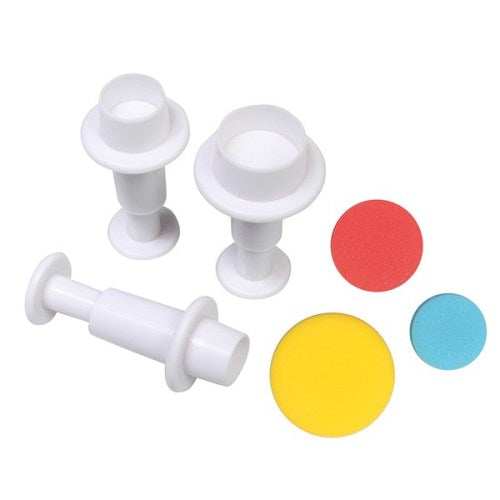 Cake Star Round Plunger Cutters, Set Of 3