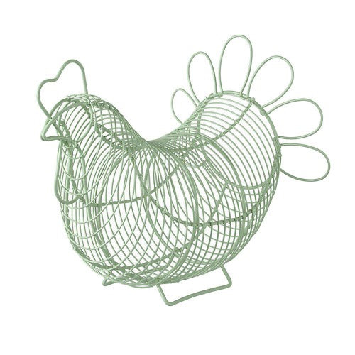 Chicken Egg Storage Basket, Sage Green