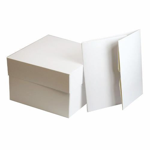 Square White Cake Box, 12""