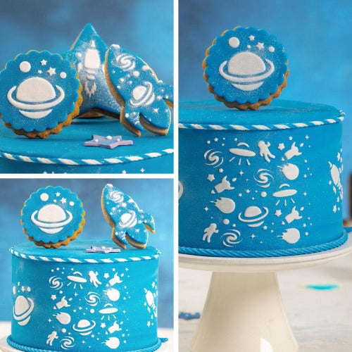 Decora Cake Stencil, Outer Space