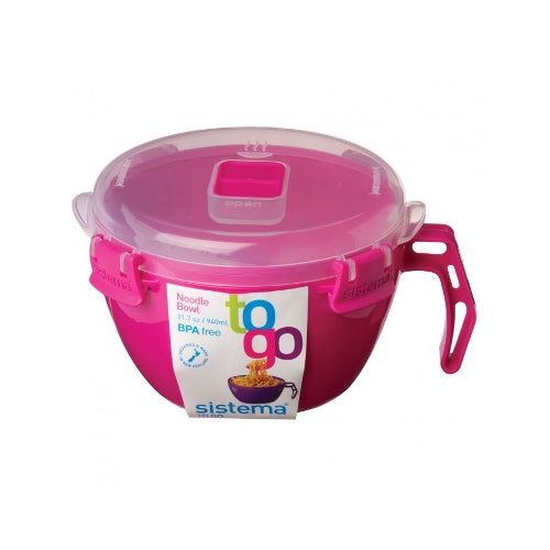 Sistema Noodle Bowl To Go, 940ml, Pink