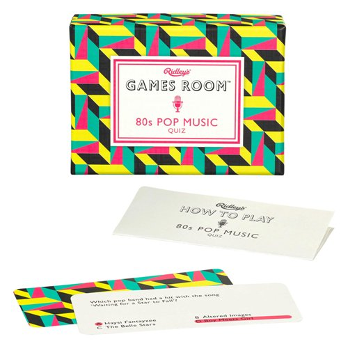 Ridley's Games Room '80s Pop Music Quiz'