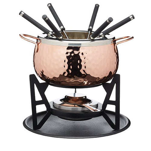 Artesa Hand Finished Copper Effect Fondue Set