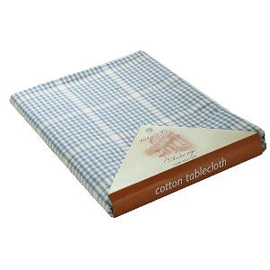 Walton & Co Auberge Rectangular Tablecloth, 130cm x 230cm, Wedgewood Blue