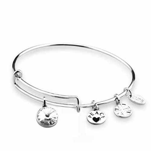 Swarovski Birthstone Bangle, April/Diamond