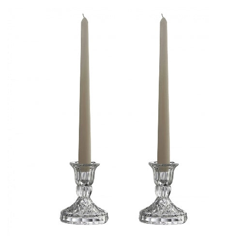 "Galway Crystal Ashford Candlesticks, 4"", Set Of 2"
