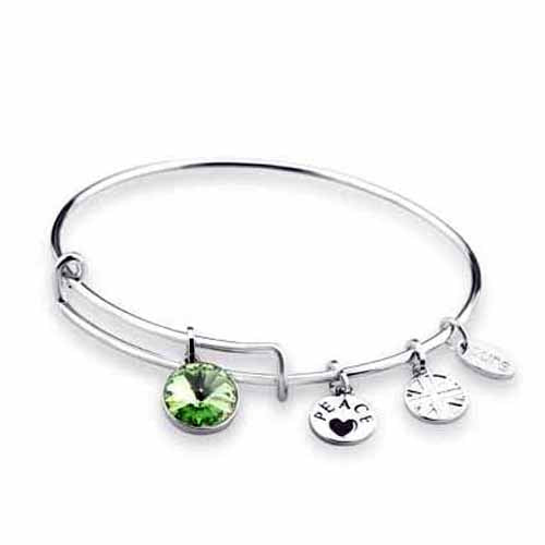 Swarovski Birthstone Bangle, August/Peridot