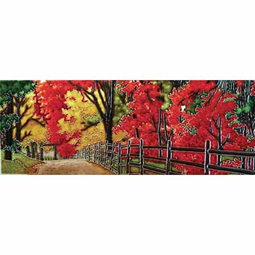 "Benaya Art Ceramic Tiles 'Autumn Splendour', 6"" x 16"""