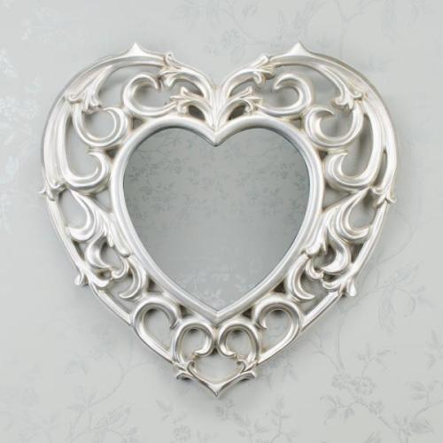 Reflections Love Heart Mirror, Champagne