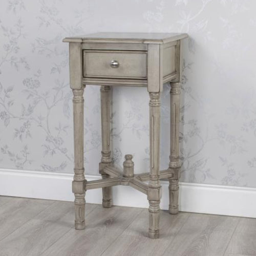 Oyster Grey 1 Drawer Accent Table