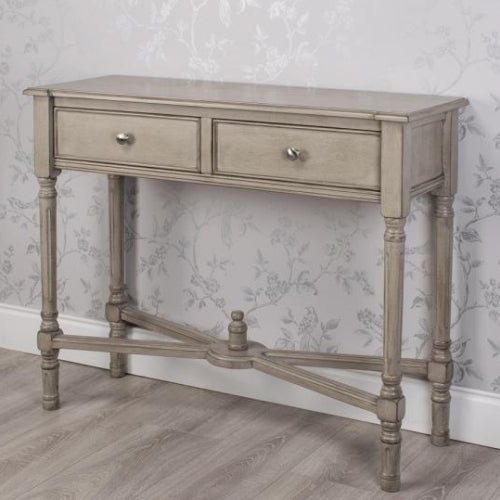 Oyster Grey 2 Drawer Console Table