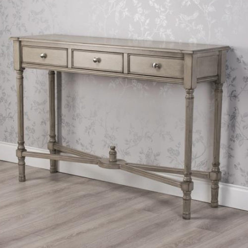 Oyster Grey 3 Drawer Console Table