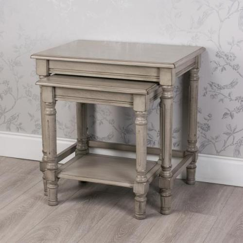 Oyster Grey Set Of 2 Nest Of Tables