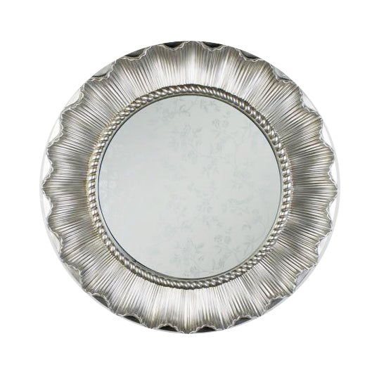 Bloom Round Mirror, 85cm, Champagne