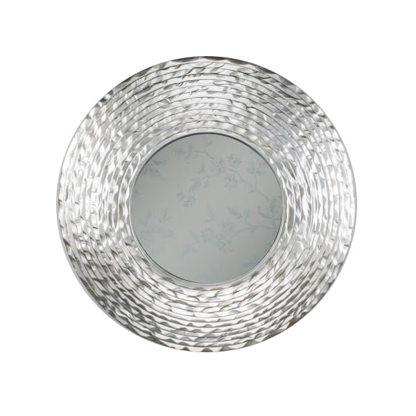 Waves Round Mirror, 108cm, Champagne