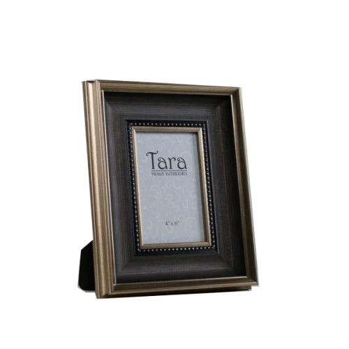 "Harper Photo Frame, 4"" x 6"", Brown/Gold"