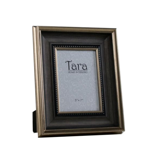 "Harper  Photo Frame, 5"" x 7"", Brown/Gold"