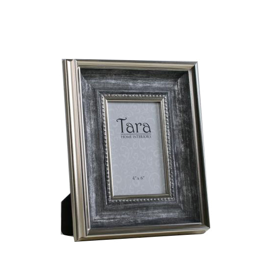 "Harper Photo Frame, 4"" x 6"", Antique Grey"