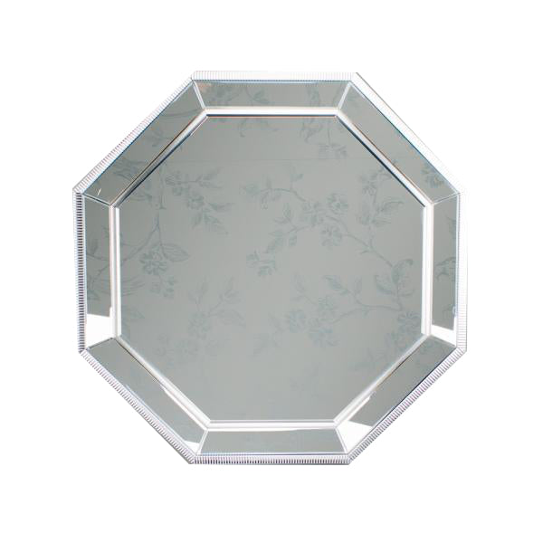 Addison Octagon Mirror, 90cm, Silver