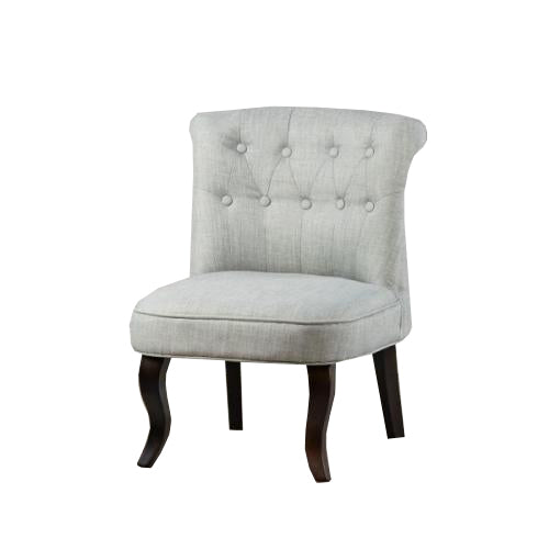 Aletta Accent Linen Chair, Silver Grey