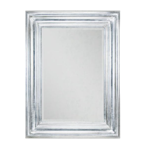 Monaco Mirror, 60cm x 90cm, Antique Silver Leaf