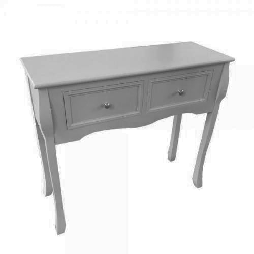 Chester 2 Drawer Console Table, Grey