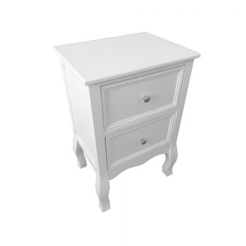 Boston 2 Drawer Locker, White