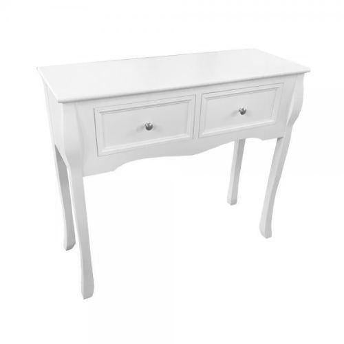 Boston 2 Drawer Console Table, White